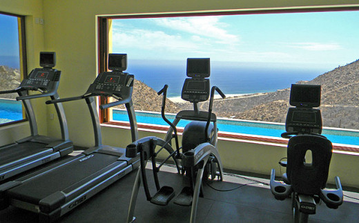 State of the art gym with beautiful view  orgeous views of the Pacific Ocean, El Rincon del Pedregal offers a fitness club like no other in Cabo San Lucas