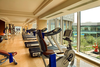 Outstanding Hotel Fitness Room Views of Nature