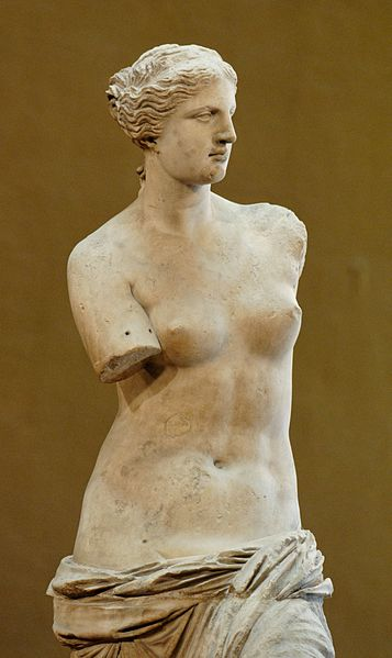 The Venus de Milo on display at the Louvre. Its all too easy to fall into the trap of worshiping your girlfriend like a god or goddess in her case.