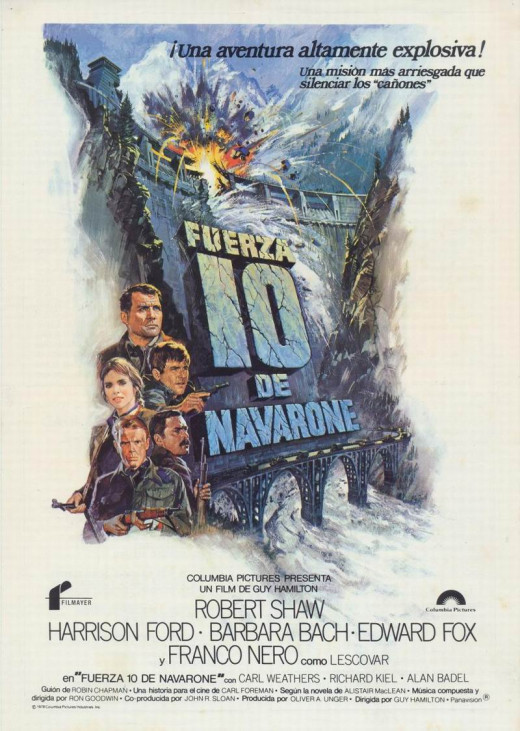 Force 10 From Navarone (1978) Spanish poster