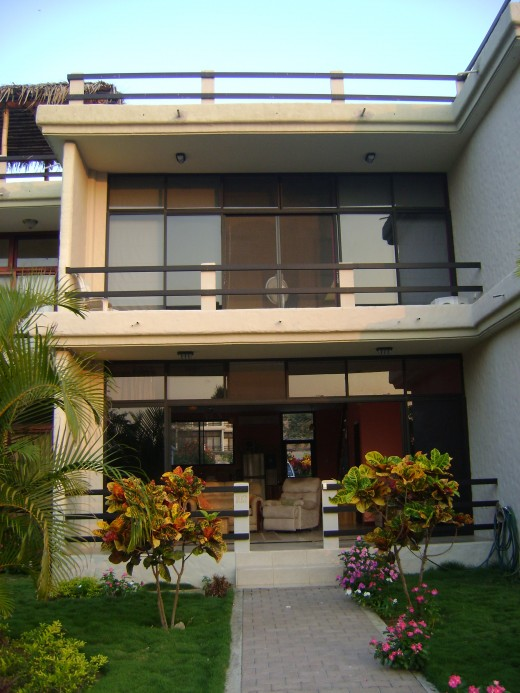 350 feet from the Pacific Ocean. Swimming pool just 300 steps away. 1290 sq. Ft, 2 bedrooms, 2 and a half baths, 645 sq ft roof top terrace. Air conditioned, fully furnished, washer and dryer. Parking space and a car. 24 hour security.