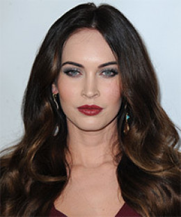 Megan Fox - with long wavy hair