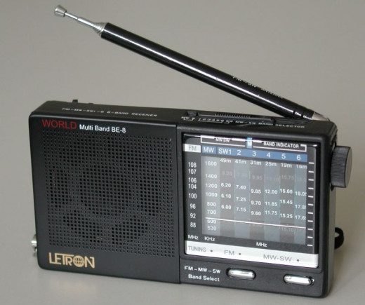 I carried a transistor radio similar to this on the hike.
