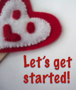 Are you ready to begin crafting felt heart finger puppets to use as little gifts or decorations?