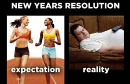 New Year's resolutions after 1 month