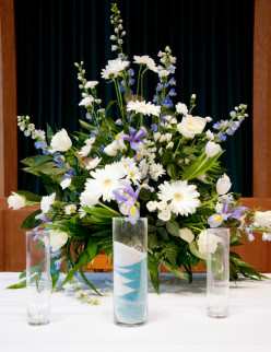 Wedding flowers are created with wedding colors in mind.