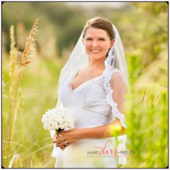 A happy bride because she doesn't use the things in my story.