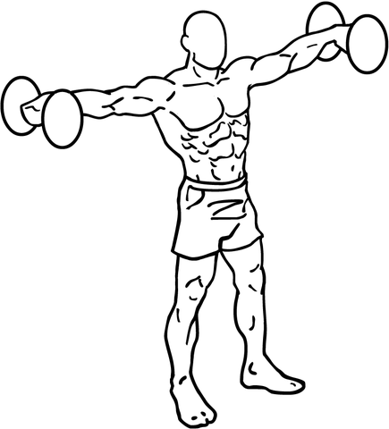 Adduction and Abduction, such as the movement of lateral dumbbell raises, or jumping jacks, occurs on the Frontal Plane