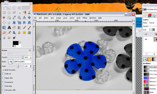 Selective coloring in blue - all finished!