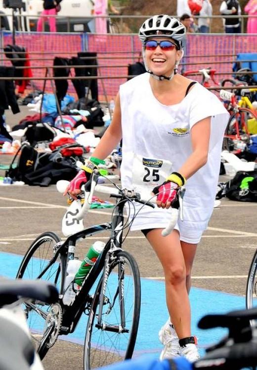 New mom Jennifer Lopez got her pre-babies body back by training for the 2008 Nautica Malibu Triathlon.