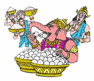 Lord Ganesha and Kubera