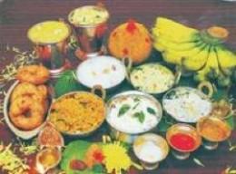 Traditional Food served on Banana Leaf