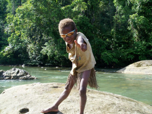 Somewhere in the jungles of Papua New Guinea