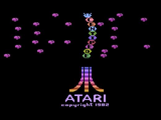 Centipede Title Screen for the Atari 2600