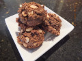 "Healthy Cookies!  Vegan ""peanut butter cup"" cookies with healthy dark chocolate. Version 3"