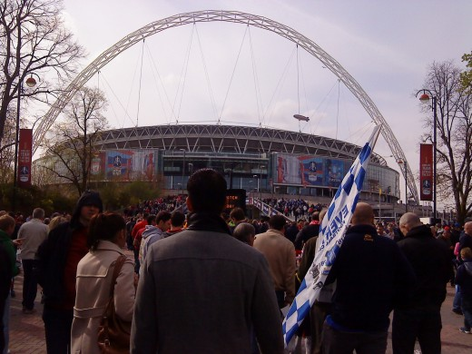 Wembley Arch - the massive steel arch spanning the stadium.
