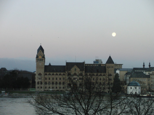 View from the Diehl's Hotel room to the Former Prussian government building