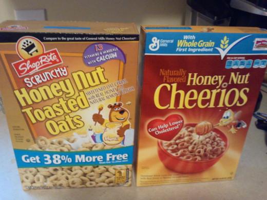 Brand Name vs. Store Brands (i.e Shoprite vs. General Mills)  Which is cheaper?