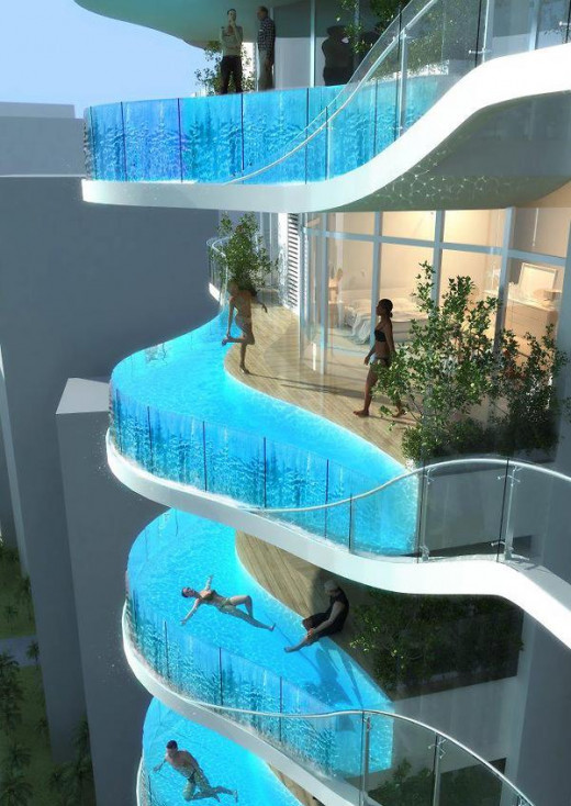 Mumbai balcony edged swimming pools - extreme swimming pools