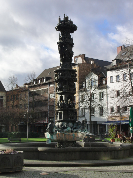 The Historiensäule in Koblenz