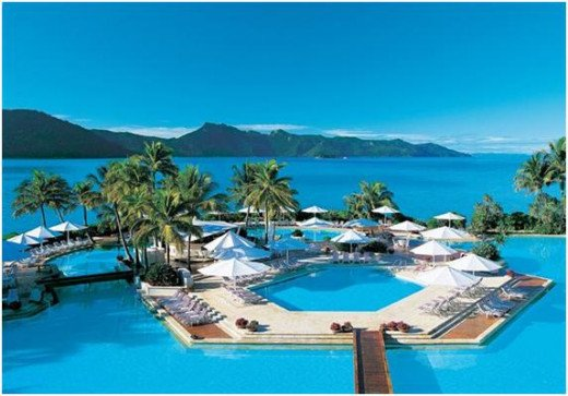 Hayman Island is home to the largest swimming pool in the southern hemisphere including the famous Hayman Pool which is seven times Olympic size swimming pool.