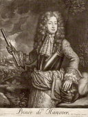 King George as Prince of Hanover from a portrait  in 1680 by Sir Geoffrey Kneller