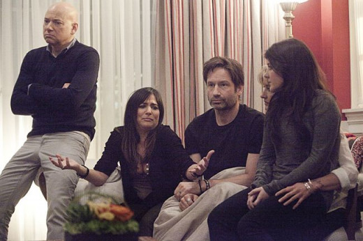 Screen shot from the season 6 premiere of Californication