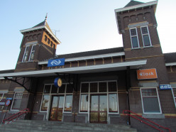 Front side of the railroad station, Kampen, in 2011