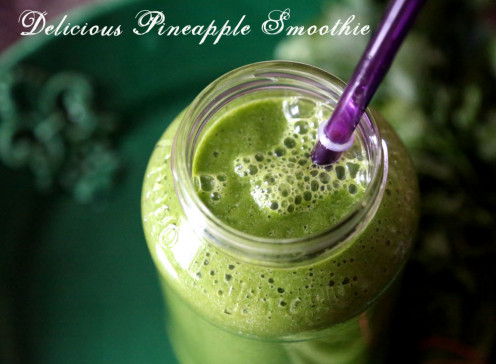 Delicious pineapple smoothie
