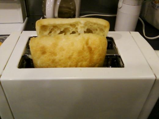 Toast ciabatta first.