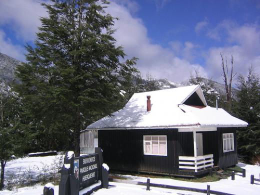 Cozy winter cabin getaway