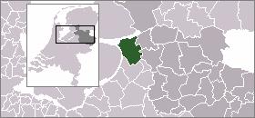 Map location of Kampen, Overijssel.