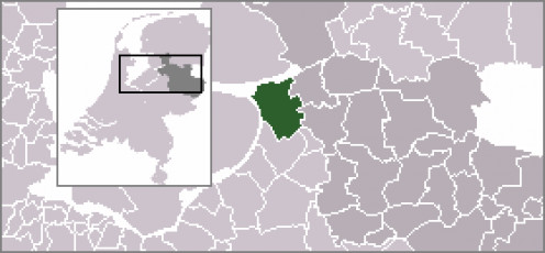 Map location of Kampen, Overijssel.