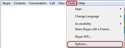 To begin, select Tools, then Options.