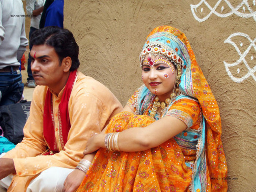 Performers from Barsana Region in Uttar Pradesh