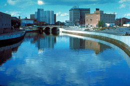 The Flint River in Flint, Michigan, USA, in the late 1970s
