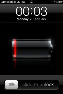 iPhone Running Out of Charge