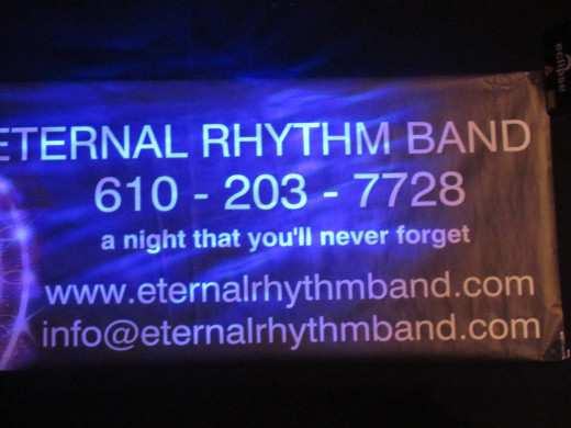 Eternal Rhythm Band had their logo displayed with contact information.