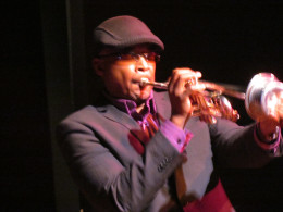 Anthony Womack performed with Sherron Denise as he played his alluring trumpet.