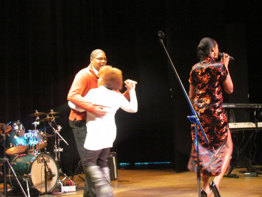 "My husband and I were invited to dance on the stage as Sherron sang, ""God Bless The Child Thats Got His Own,"" by Billie Holiday."