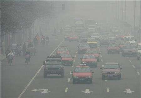 Polluted streets of Beijing