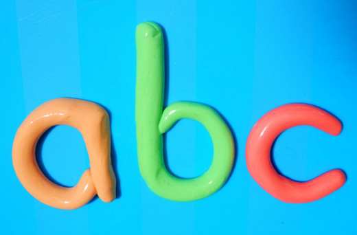 Create Play-Doh letters with your little one. Kids can have a great time learning and practicing letters with Play-Doh.