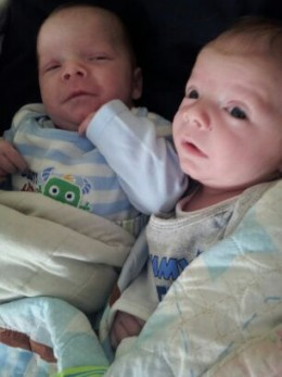 My 2mo Old Identical Twin Boys