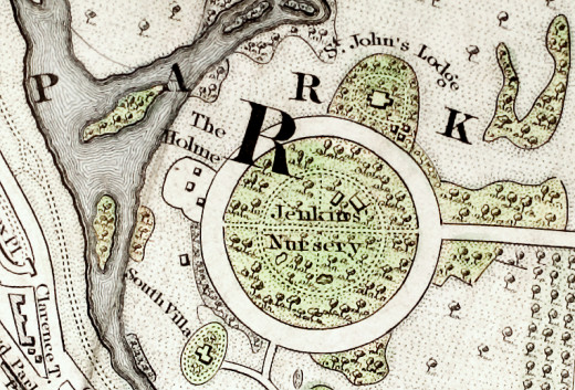 1833 Map of the Inner Circle in Regent's Park