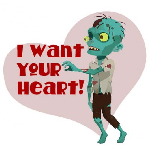 I found this on a kid's blog, no link back to the original source. I couldn't resist adding it when it says everything in it's own creepy Valentine way.