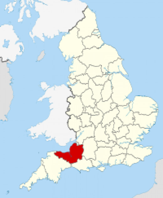 Somerset in the South West of England