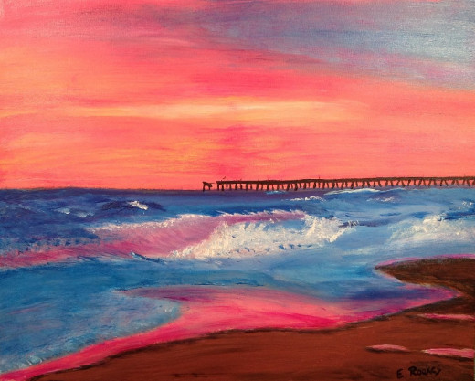"""Nightfall in Nags Head"""