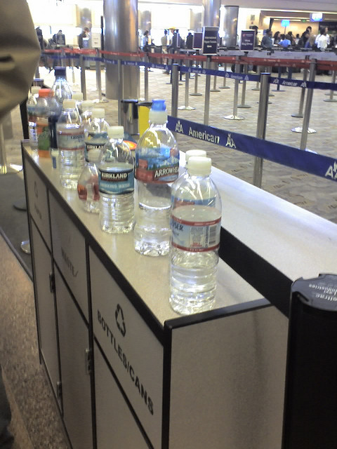 Your bottled drink is not allowed through security but you can buy one on the other side of the checkpoint for about $5!
