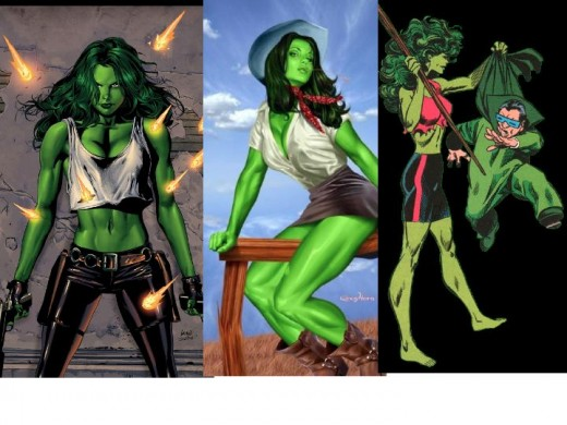 Different She-Hulk Outfits
