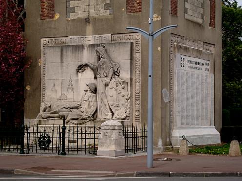 War memorial, Comines, France